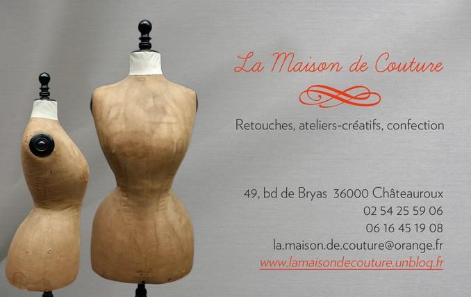 L Inauguration De La Maison Couture Carte Visite Reduite Ok